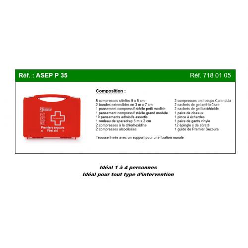 Trousse de secours MULTI-ACTIVITES 1-4 PERSONNES