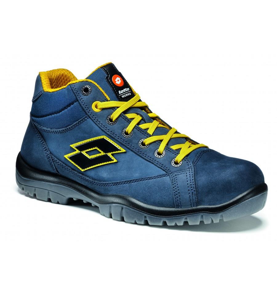 Chaussures de sécurité LOTTO basket JUMP900 MID Bleu S3 SRC LOTTO WORKS R7014