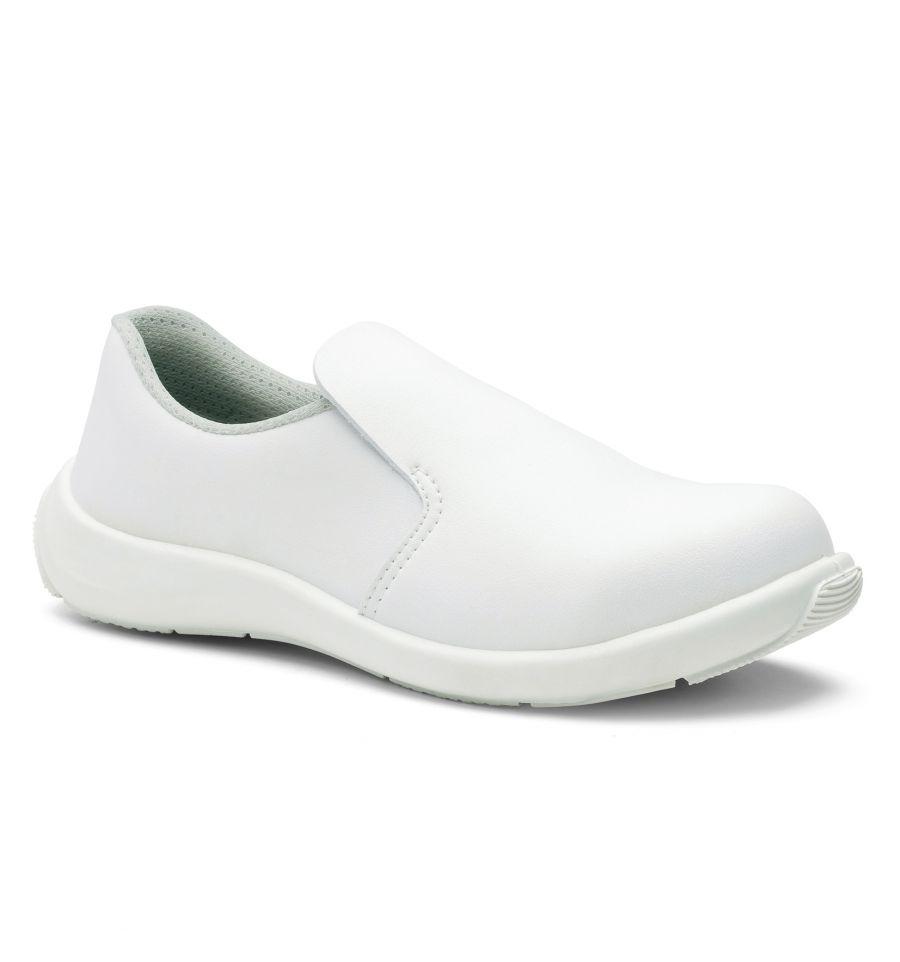 premier taux ee60f 2913d Chaussures de cuisine de sécurité femme BIANCA Blanche S3 - S24 - 8932